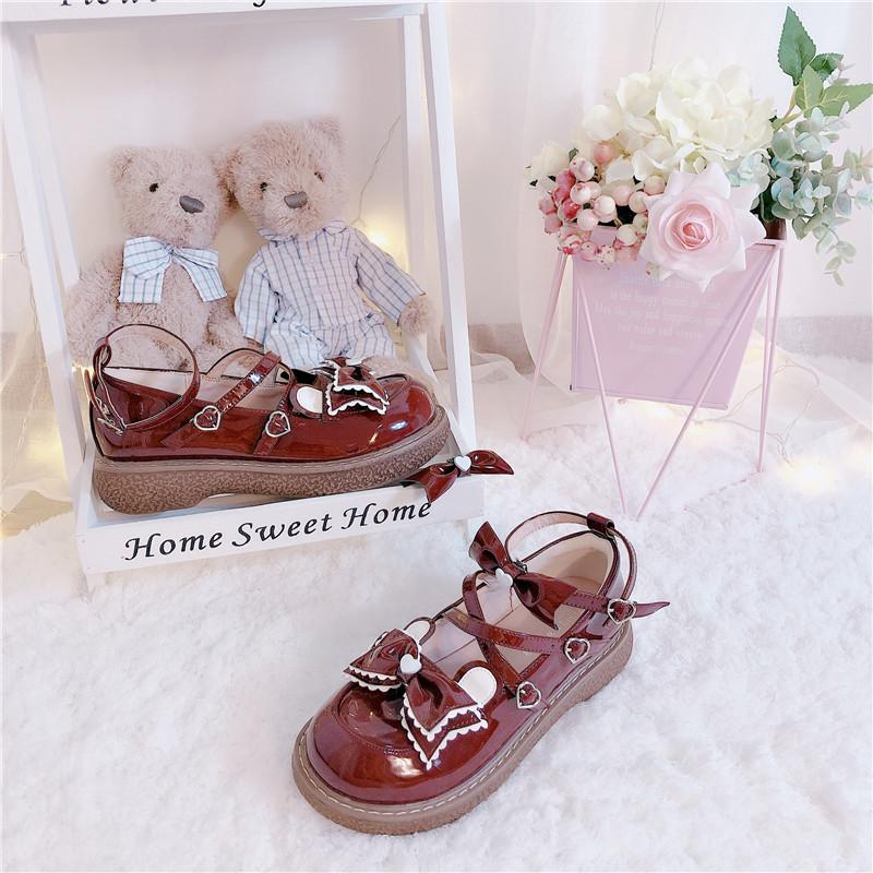 [Reservation] Kawaii Bear Ear Bowknot Lolita Shoes K15308 - kawaiimoristore