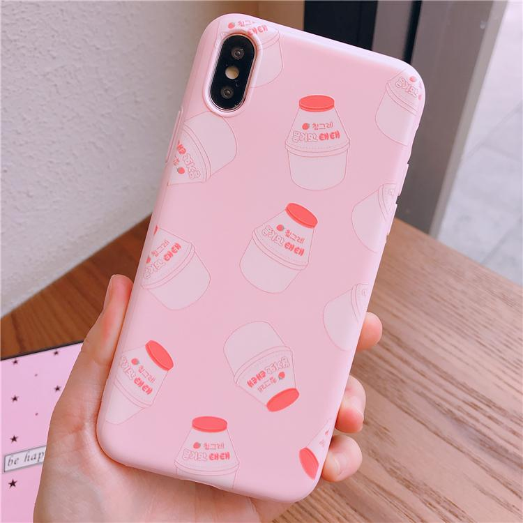 Pink Strawberry Milk Phone Case K14554