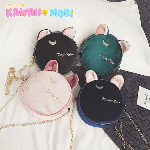 4 Colors Kawaii Cat Ears Moon Bag K13639