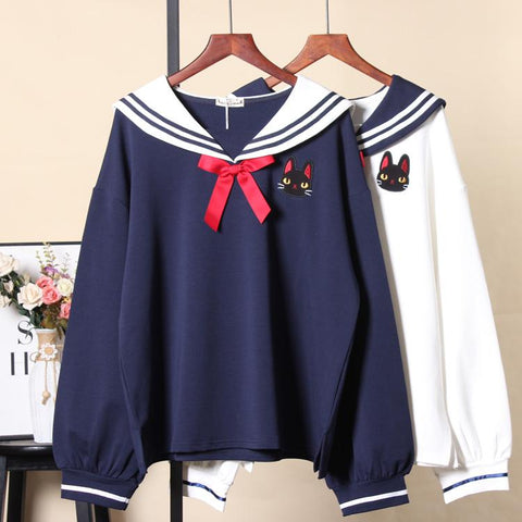 Lovely Cats Navy Hoodie K14978