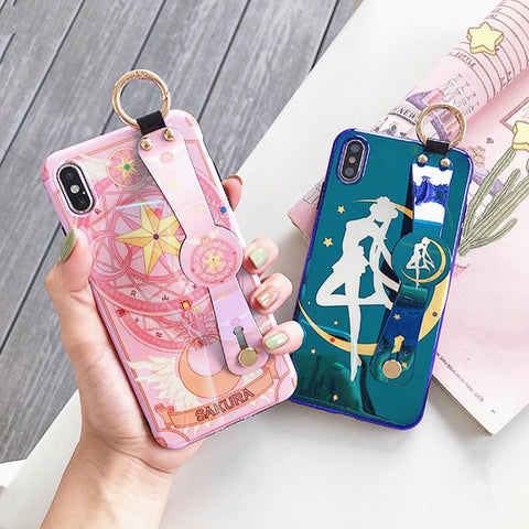 Sailor Moon Sakura Wrist Strap Phone Case K14094