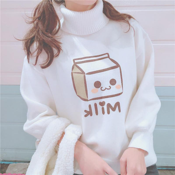 White Milk Box Sweater K14416