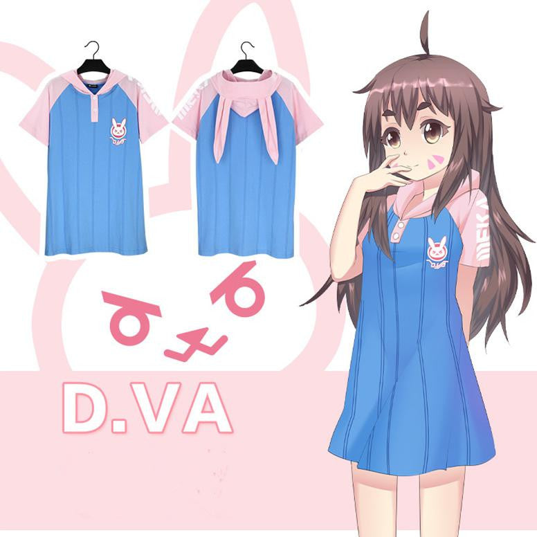 OW Dva Comic Long T-shirt KW1710307 - kawaiimoristore