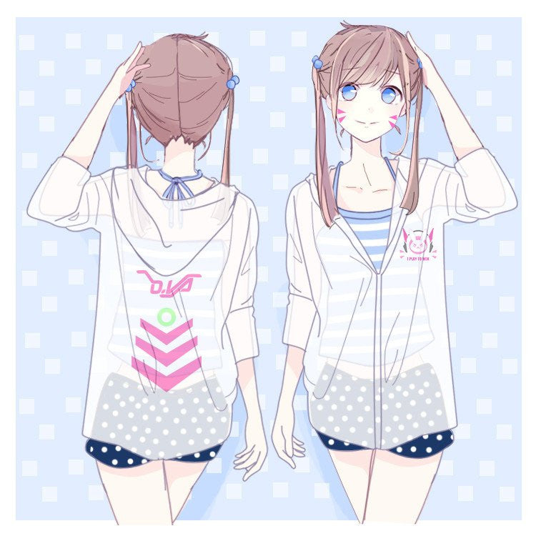 Overwatch D.VA DVA Transparent Summer Jacket K12650