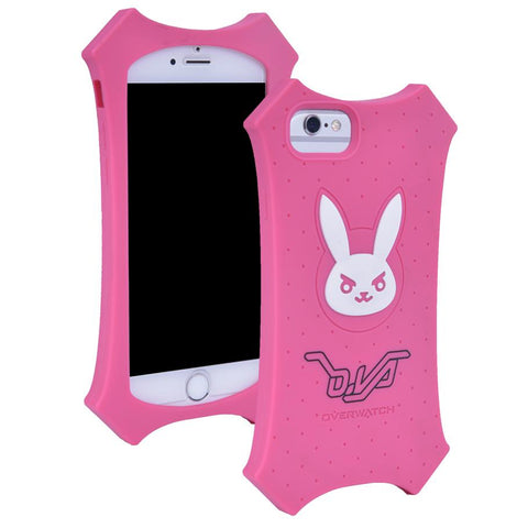 Overwatch D.VA  Silicone Pink Iphone Phone Case