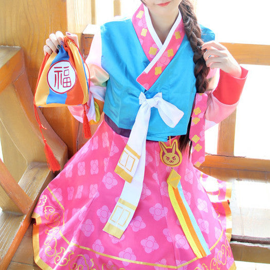Overwatch D.VA New Year Hanbok Cosplay KW179357