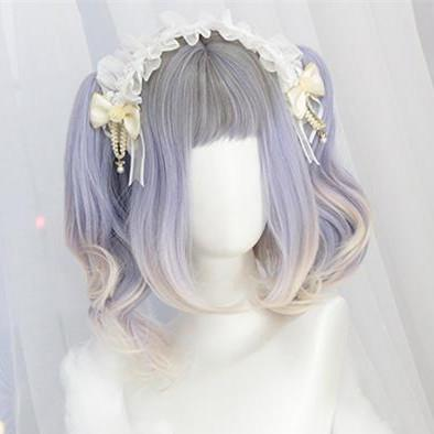 Pastel Grey Purple Mixed Lolita Wig K12820