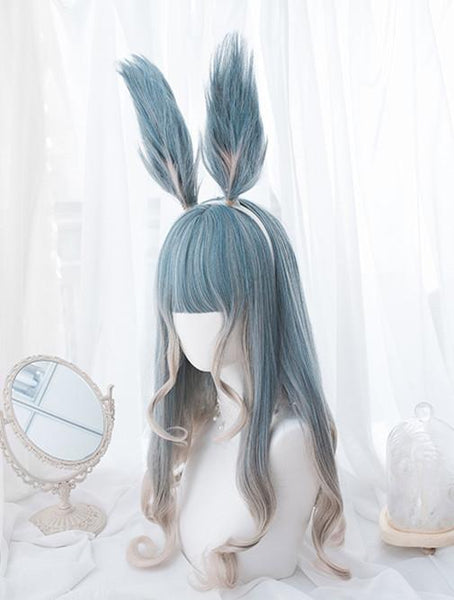 Pastel Mixed Color Lolita long Curl Wig K12976