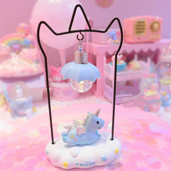 Pink/Blue Pastel Unicorn Decorative Lamp  K13419