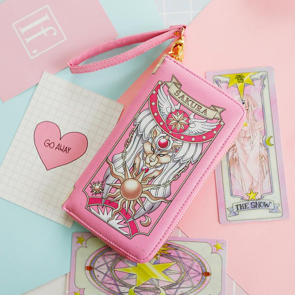 2 Colors Card Captor Sakura Magic Book Hand Bag Purse Can Pack Phone KW152282
