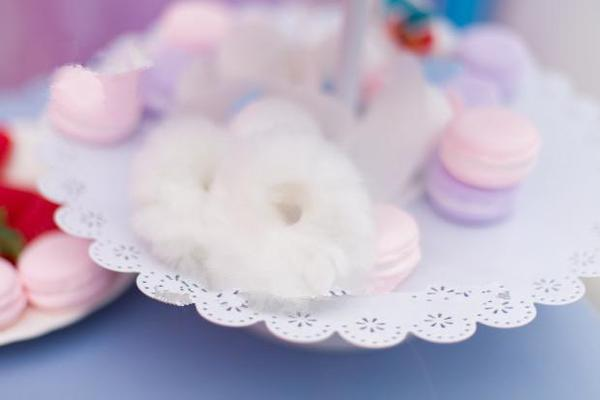Pink/White Sweet Doughnut Plush Hair Band KW154583