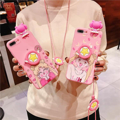 Pink Kawaii Usagi Phone Case