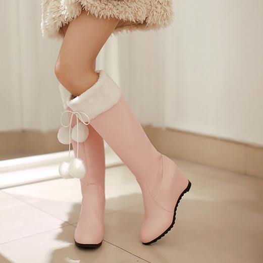 Pink/White Sweet Bow Heels KW1710723