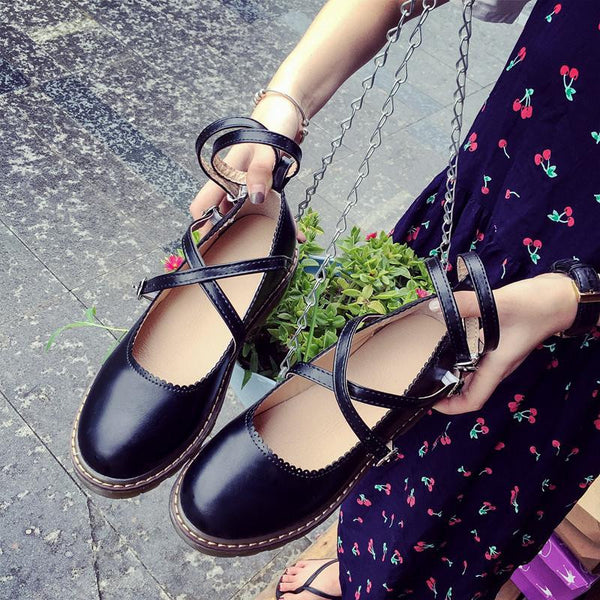 Pink/White/Black Flat Shoes KW179435