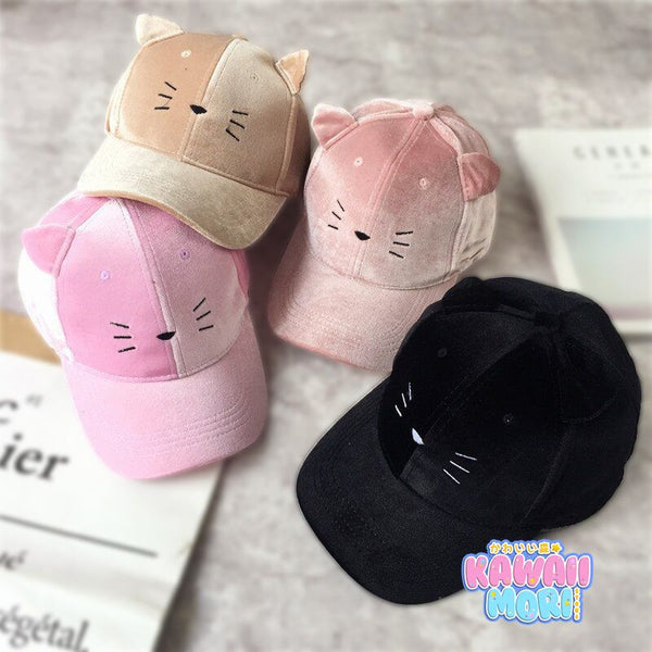 5 Colors Kawaii Neko Baseball Cap KW168508