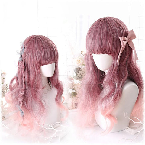 Red Mixed Lolita Long Curl Wig K13659