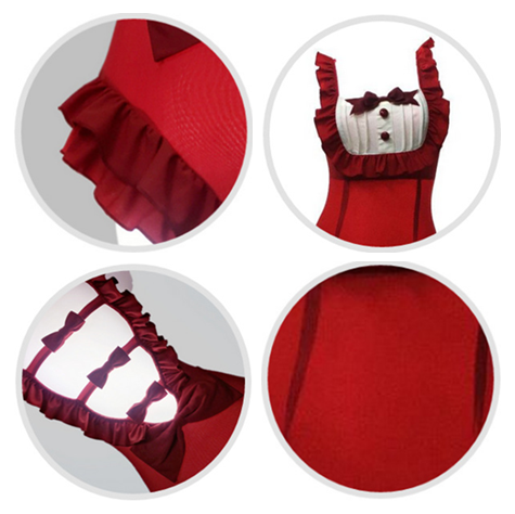 Red Ruffle Maid Swimsuit KW1710183
