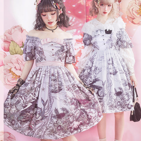 [Reservation] 3 Colors Fantasy Lolita Short Sleeve OP Dress