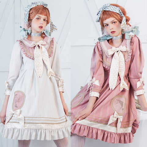 [Reservation] 4 Colors Muscle Halobies Bow Lolita Dress
