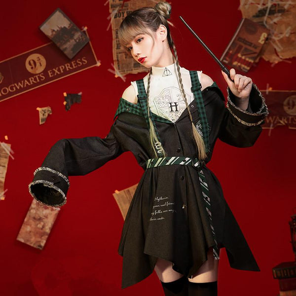 [Reservation] Harry Potter Hogwarts Slytherin Cosplay Costume K13259
