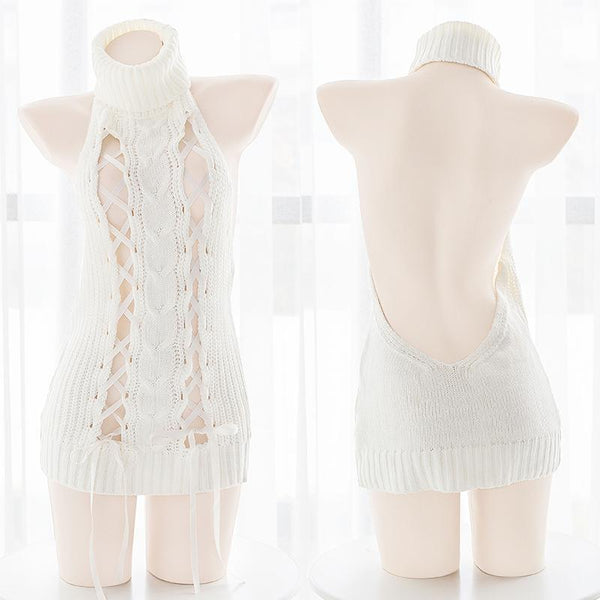 Ribbon Virgin Killer Sweater K394