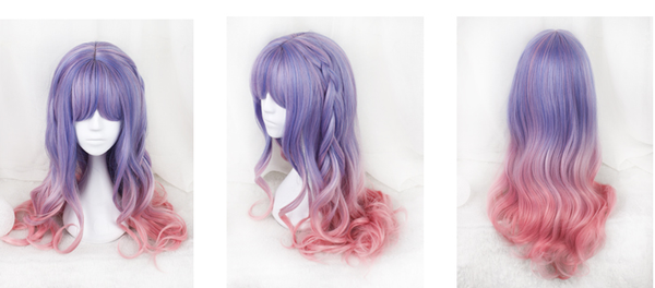 Purple Gradient Pink Lolita Curly Wig KW179101