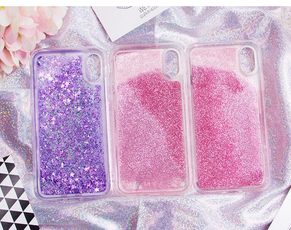 Sailor Moon Chibi Moon Sailor Saturn Quicksand Liquid Glitter Phone Case KW1812510