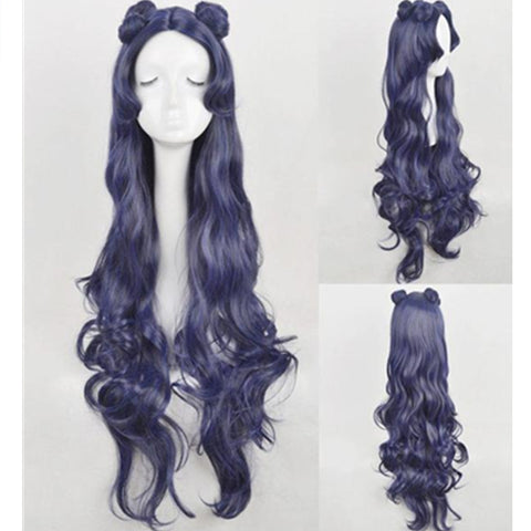 Sailor Moon Human Luna long Purple Wig KW179846