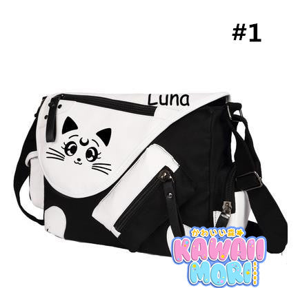 Sailor Moon Luna Printing Animation Shoulder Bags