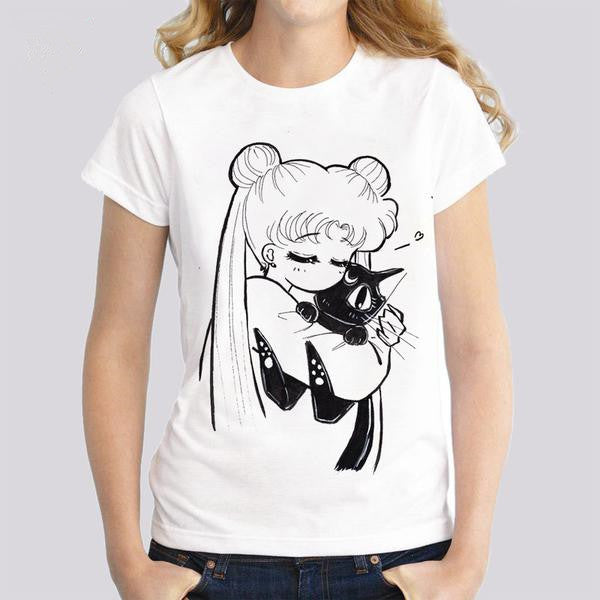Sailor Moon Luna T-shirts - kawaiimoristore
