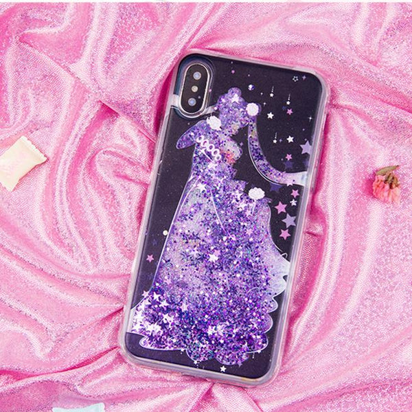Sailor Moon Serenity Quicksand Liquid Glitter Phone Case  KW1812509