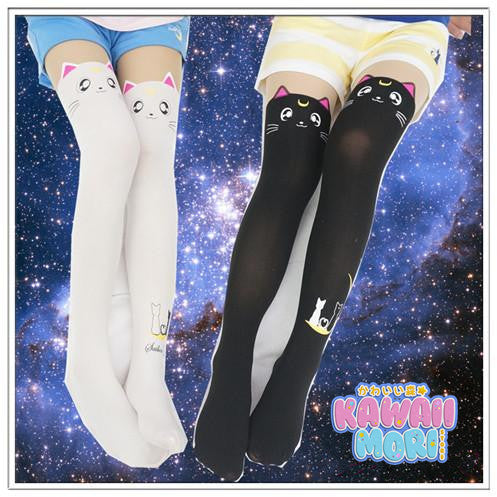 Sailor Moon Luna Artemis Kitten with Tail on Back Legging Tights KW141305