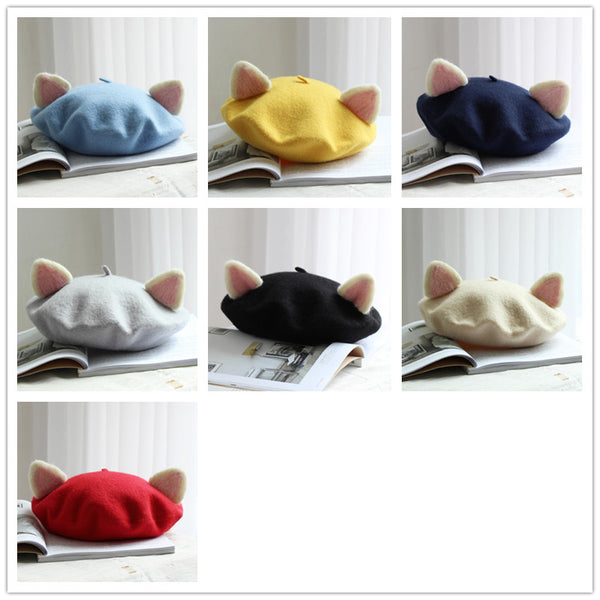 Sweet Cat Ear Beret