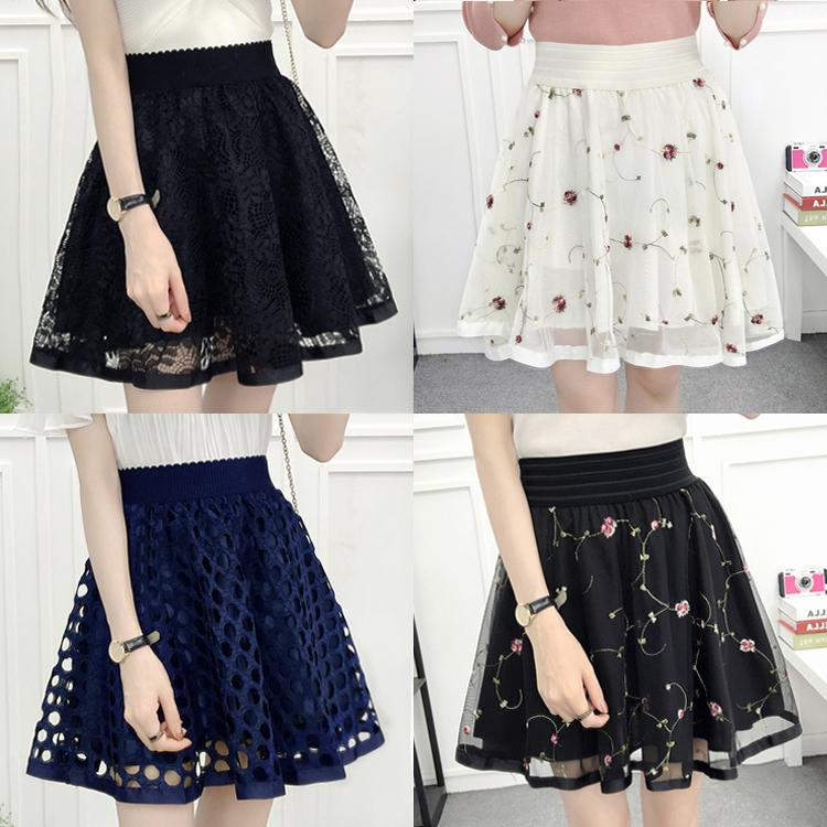 Sweet Net Yarn Lace Skirt KW1811891