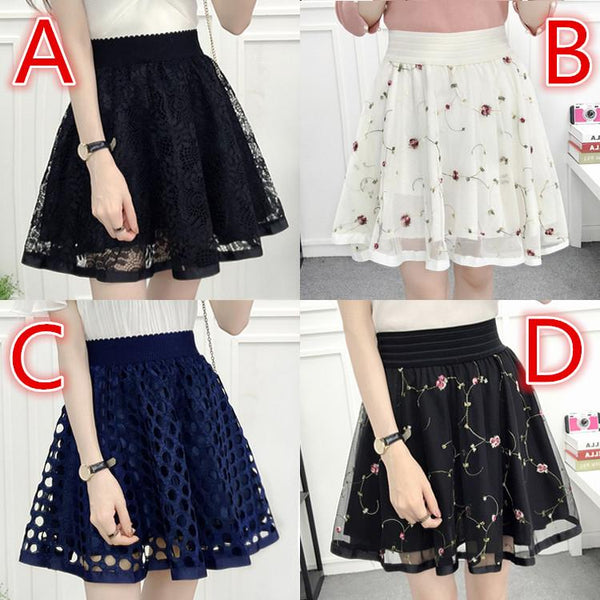 Sweet Net Yarn Lace Skirt KW1811891 - kawaiimoristore