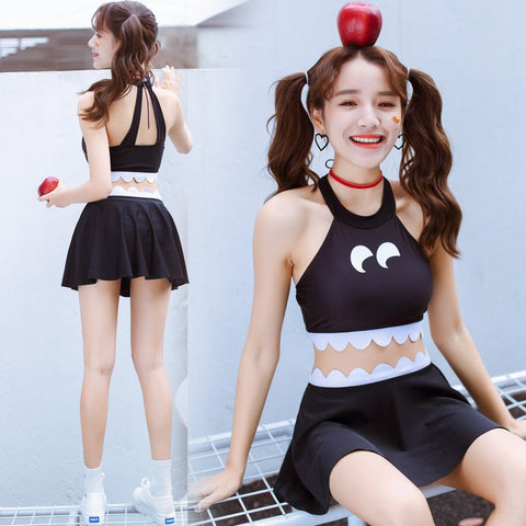 Cute Kawaii Cartoon Swimsuit Three-piece Suit K14061
