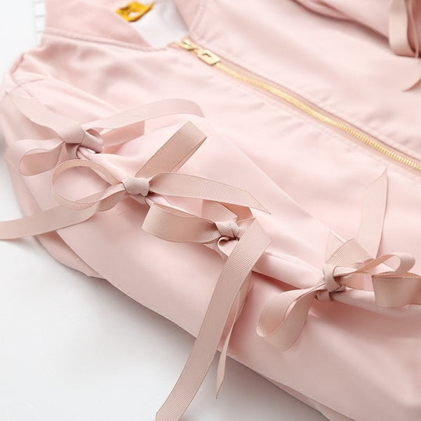 Pink Cartoon Bow Jacket