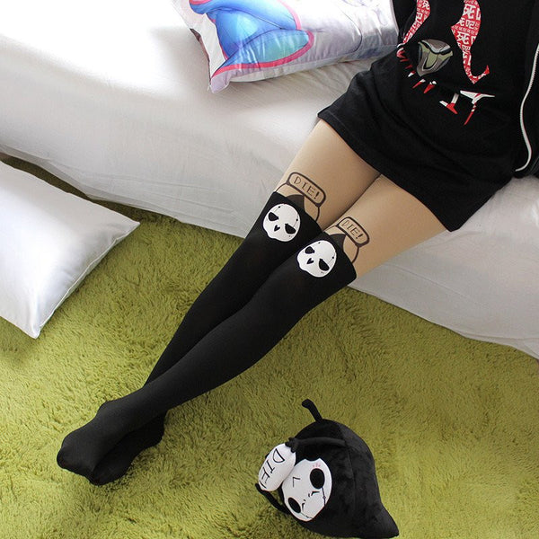 Black Cartoon Pantyhose