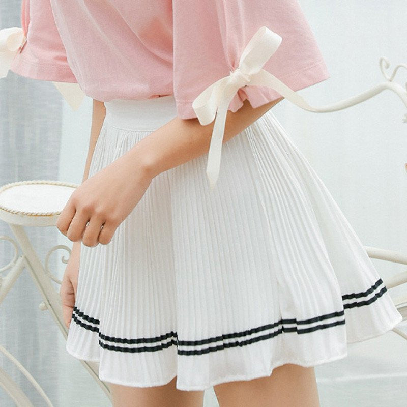 Students Chiffon Pleated Skirt