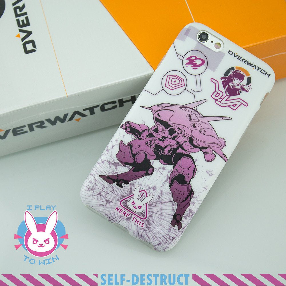 Overwatch D.VA Meka Iphone 6/6plus Phonecase - kawaiimoristore