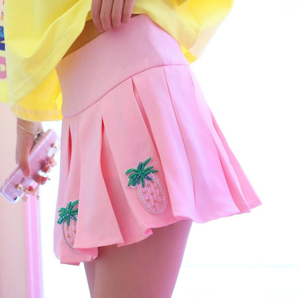 Summer Sweet Pink Pineapple Skirt