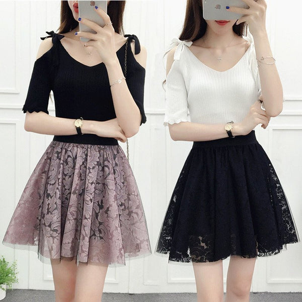 Sweet Lace Skirt KW179876 - kawaiimoristore