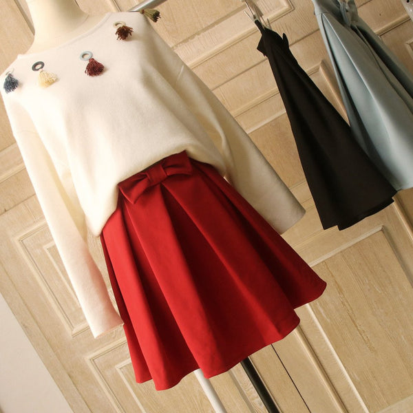 Sweet Bowknot Skirt   KW1812024