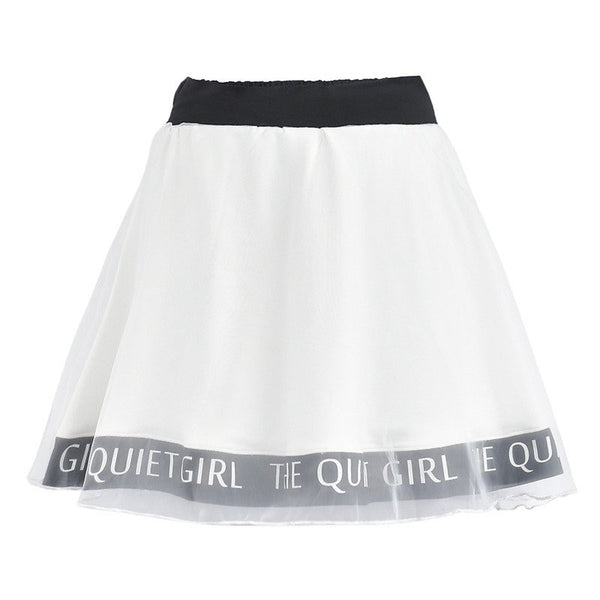 "Japanese Sweet Printed ""The Quiet Girl"" High Waist"