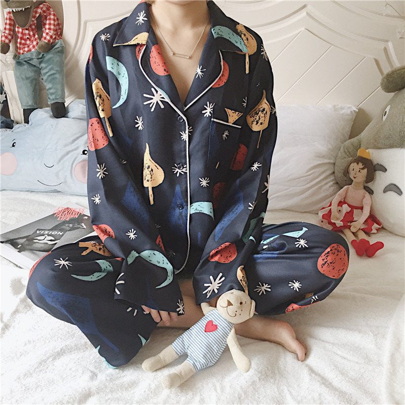 Lovely Printing Pajamas Two-piece
