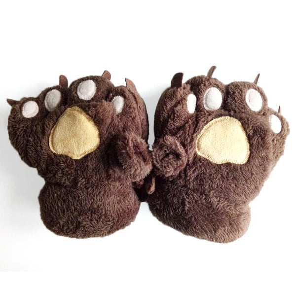 6 Colors Cute Fluffy Fingerless Paws Gloves KW1711062 - kawaiimoristore