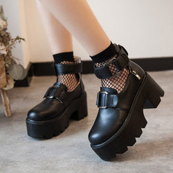 Black Punk Platform Shoes