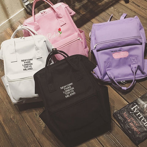 Harajuku Fashion Canvas Backpack KW179288