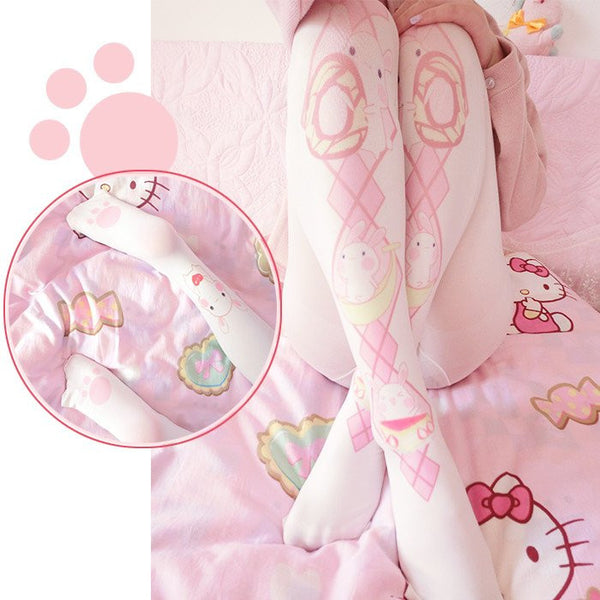 Kawaii Bunny Printed Tights