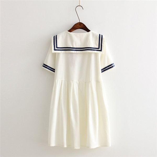 Navy/white Students Dress KW166686